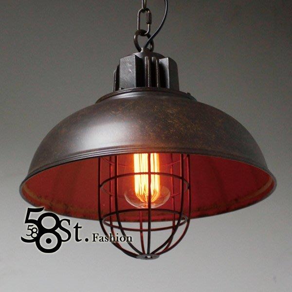 【58街】復古工業風「loft 風格_捕手盔吊燈_單款」美術燈,複刻版。GH-461