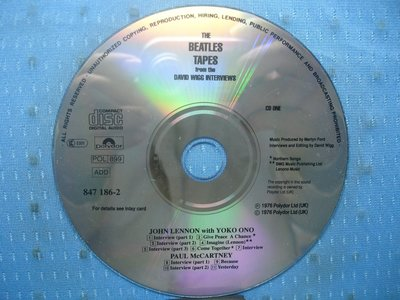 [無殼光碟]HK The Beatles Tapes CD1 + CD2 無ifpi  MADE IN GERMANY