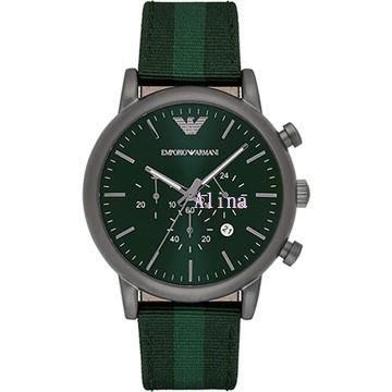 Alina 精品代購 EMPORIO ARMANI 亞曼尼手錶 AR1950 潮流時尚三眼計時多功能石英錶  手錶 歐美代購