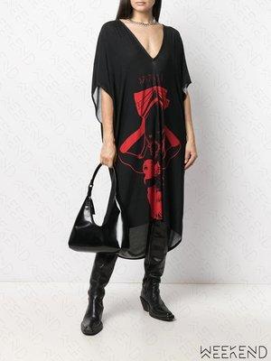 【WEEKEND】 BARBARA BOLOGNA 低胸 寬鬆 短袖 長洋 黑色
