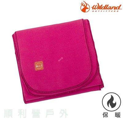 荒野WILDLAND 輕柔PILE保暖圍巾 W2010 桃紅色 刷毛圍巾 不易產生靜電 OUTDOOR NICE
