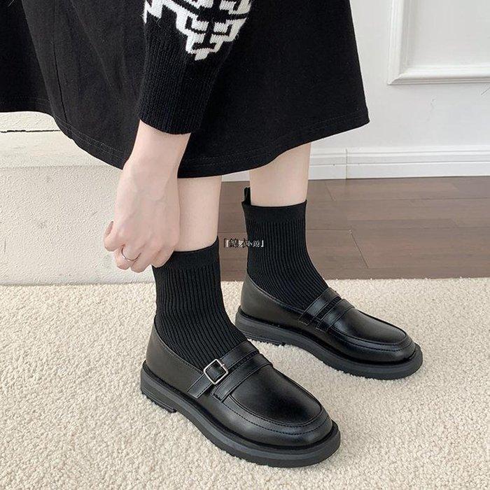 「錦衣堂」 瘦瘦靴襪靴女短靴2020年潮新款秋季潮INS平跟網紅靴子超夯加絨女鞋