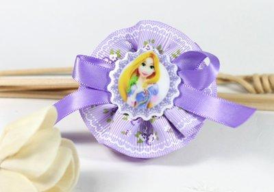 【亦云手創館】☆迪士尼=長髮公主☆雙層小花朵-紫色系 髮飾 -F031