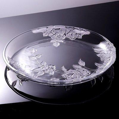 hello小店#時尚透明北歐式創意個性水晶玻璃超大號水果盤客廳裝飾簡約托盤#糖果罐#果盤#收納罐