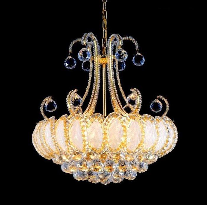 店面居家高級水晶吊燈,居家品味提升.金色(含LED燈泡款)品味價僅3450元GMD30441金