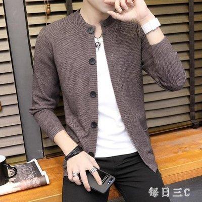 針織外套男新款青少年韓版休閒針織開衫秋季男士短款毛衫 zm11971