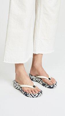 【全新正貨私家珍藏】TORY BURCH Cutot Wedge Flip Flops 2018夏季款坡跟涼鞋/夾腳涼鞋