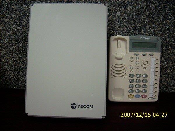 電話總機專業網...新款6台10鍵顯示免持對講型話機7710E+東訊SD-616A..完善的保固