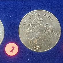 ☆承妘屋☆1984年美國洛杉磯奧林匹克運動會奧運紀念章 ~ZAB.賽跑.2