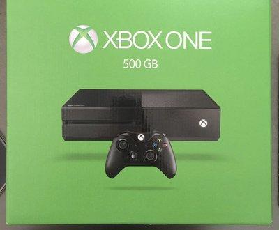 加送遊XBOX ONE  500G 黑色 (單機主機+手把+配件盒裝全新公司貨微軟 )