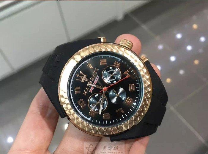 請支持正貨,瑪莎拉蒂手錶MASERATI手錶PNEUMATIC款,編號:MA00045,黑色錶面黑色PU錶帶款