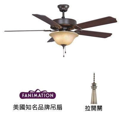 Fanimation Aire D'ecor 52英吋吊扇附燈(BP220OB1)油銅色 適用於110V電壓