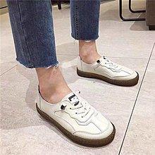 NANAS【S1066】好好穿~chic韓國超好搭小白鞋/軟底真皮平底鞋休閒鞋 現貨/預購