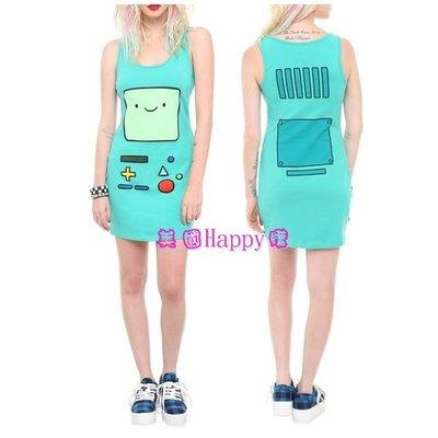 現貨M號 ☆ ╮美國Happy購╭☆ Adventure Time 探險活寶 BMO 嗶莫款 無袖連身裙/連身衣