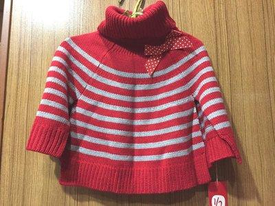 【Alice秘密衣櫥】why and 1/2翻領條紋時尚造型針織斗篷