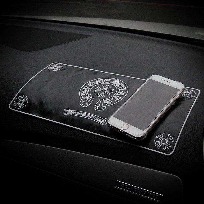 克羅心韓國車飾防滑墊手機墊香水墊車載車用骷髏頭防滑墊防護墊
