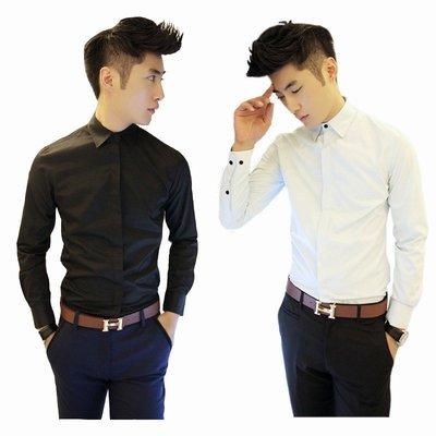 男上班襯衫 男長袖襯衫 男夏季襯衫 商務襯衫 男韓版襯衫 男休閒襯衫 白色襯衫 大尺碼襯衫 薄款襯衫 免燙襯衫 B02