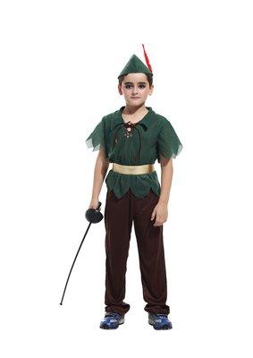 萬聖節服裝,萬聖節彼得潘裝扮,兒童變裝服-森林小彼得