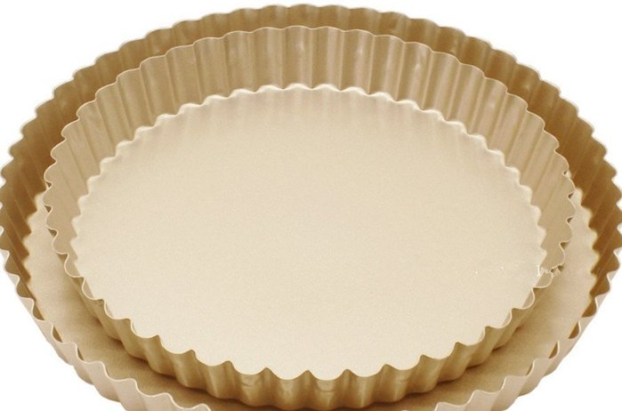 Amy烘焙網:外貿尾單8寸碳鋼香檳金不沾固定菊花派盤/8吋花型派盤/藍莓派/布丁塔派盤