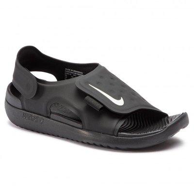 GOSPEL【Nike Sunray Adjust 5 】魔鬼氈 中童鞋 黑色 涼拖鞋 AJ9076-001