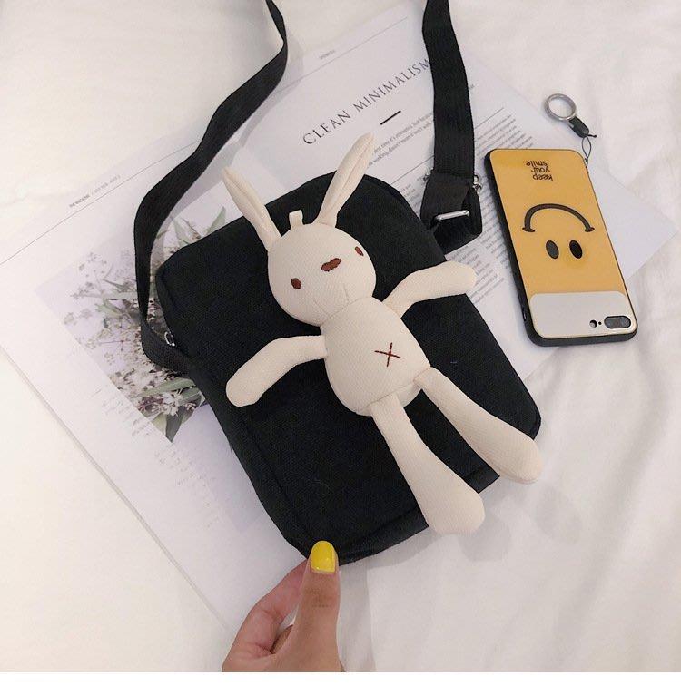 ღ~{ 現貨 }~ ღins超火日系韓版可愛卡通小兔子女包帆布包軟妹少女單肩斜挎女包 側背包 斜背包