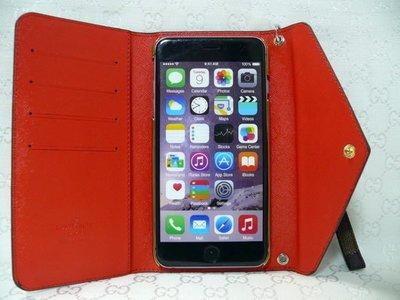 IPHONE6 PLUS APPLE 4.7 5.5 多功能皮套 格仔 八達通 四卡卡套