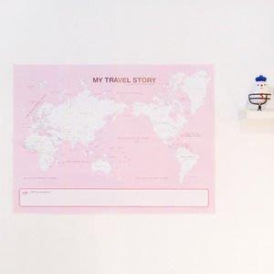 Growlife 種生活 ▶韓國 ARDIUM - My travel story world map我的旅行故事 世界地圖-現貨