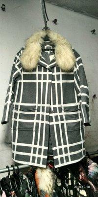 毛領羊毛外套