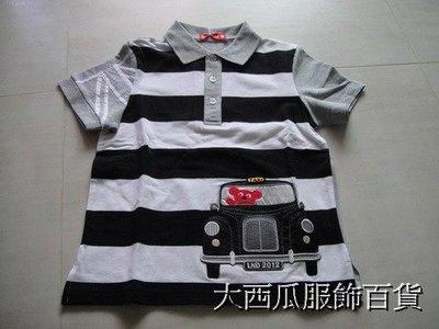 【大西瓜服飾百貨】CL043 WHY AND 1/ 2 可愛普普熊-快樂TAXI黑色POLO衫 花蓮縣
