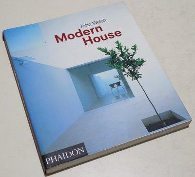 二手英文原文書籍雜誌 John Welsh Modern House 當代多位建築師合輯作品集 建築設計工具書案例