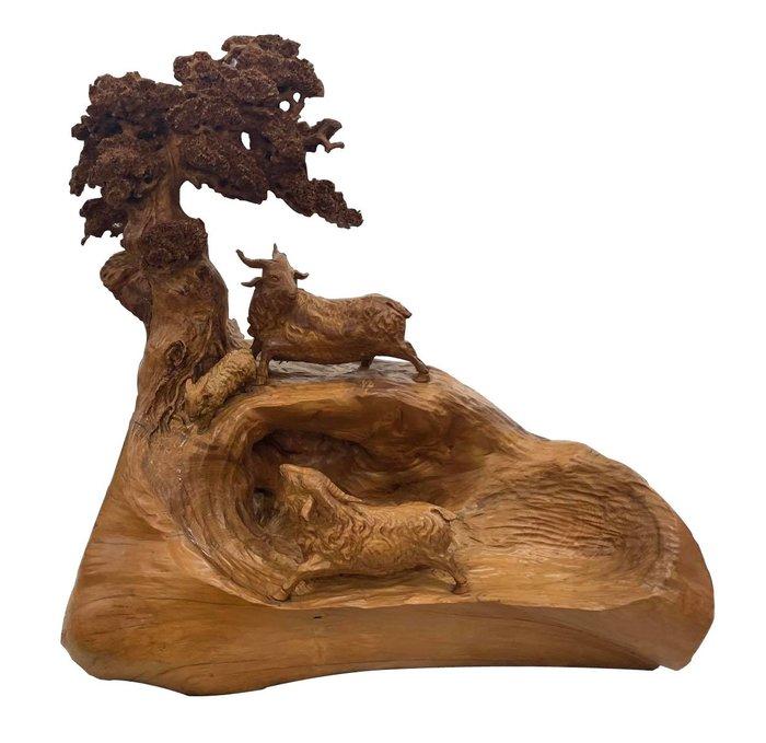 二手家具宏品 台中中古傢俱賣場 R10903*檜木三洋開泰木雕藝術品*仿古家具 雕刻藝品買賣 檀木 檜木 柚木 樟木