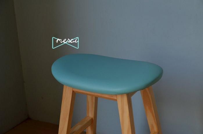 美希工坊獨創商品warmmain 逗豆吧台椅 bean stool /最舒適坐感/成雙免運 原木椅架/皮革款