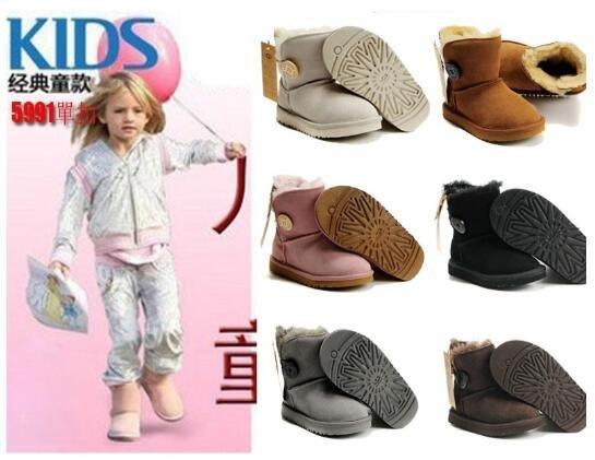 澳洲代購 UGG雪靴 100%純羊皮毛 2020潮牌設計超保暖UGG兒童學步鞋雪地靴 防滑耐穿童靴雨鞋
