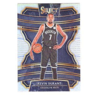 "銀亮!""KD"" Kevin Durant / Select Concourse Silver Prizm系列銀行金屬卡 2019-20"