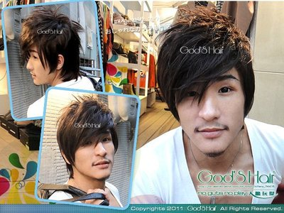 *GODSHAIR* 日系型男假髮實品拍攝 【MAN129】潮男羅志祥必備款 蓬鬆抓亂有型男生假髮