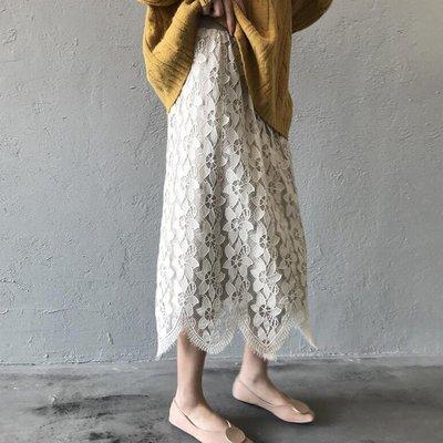 針織裙子 波浪加厚立體蕾絲針織長裙 艾爾莎【TAE8155】