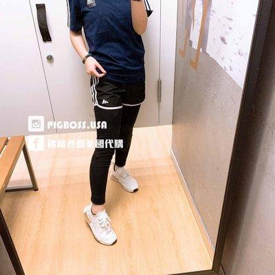 【豬豬老闆】ADIDAS 黑色 兩件式 緊身長褲 短褲 套裝 休閒 運動 訓練 女童 FM9846