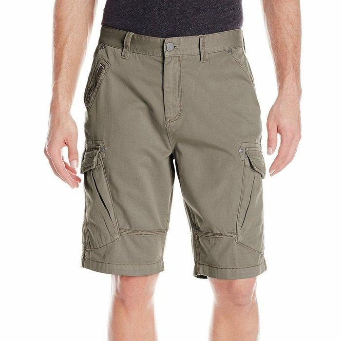 美國百分百【Calvin Klein】短褲 CK 休閒褲 褲子 五分褲 工作褲 飛行員 橄欖綠 30腰 H120