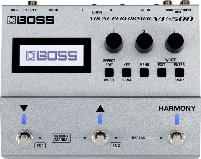 【六絃樂器】全新 Boss VE-500 Vocal 人聲 合聲 主唱效果器 / 現貨特價