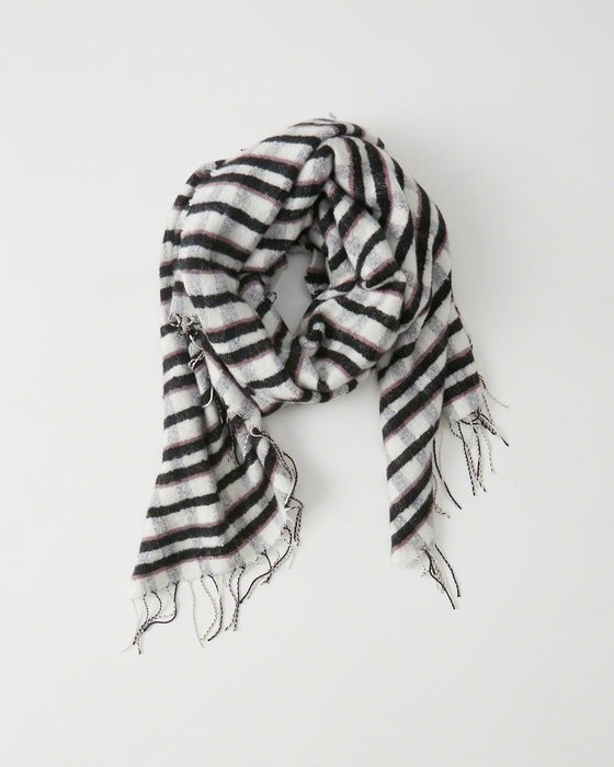 Maple麋鹿小舖 Abercrombie&Fitch * A&F 格紋款大圍巾 *( 現貨one size )
