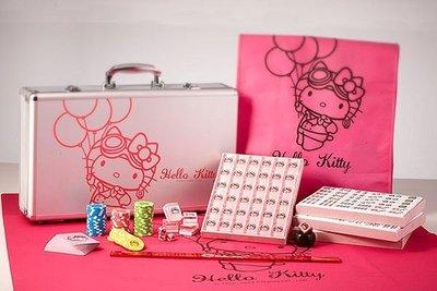 GIFT41 4165本通 重慶門市 機場限定 環遊世界 Hello Kitty 麻將 粉紅水晶 筒子貓頭 索仔蝴蝶結