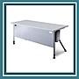辦公家具 KRS- 147G 銀桌腳+灰色桌板 辦公桌...