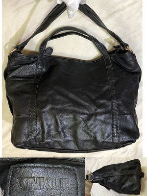 低價起標~香港UNKLE leath牛皮肩背包 真皮大包 側背包 購物包 大型托特包 似Salad daad參考