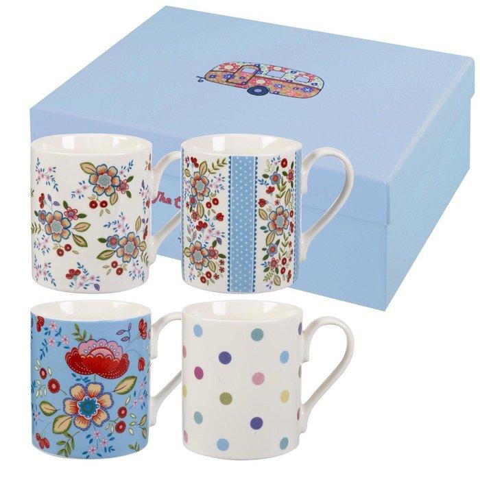 《齊洛瓦鄉村風雜貨》英國CHURCHiLL瓷器 英國鄉村花卉系列  馬克杯組 咖啡杯組 4入組 250ml