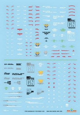 飛翔 天地模型 MW-1048 1/ 48 RX-78-2(1) 模型機體標志水貼紙