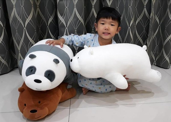 熊熊遇見你娃娃~正版授權~熊熊遇見你玩偶~熊熊三劍客~趴款~胖達/阿極/大大~生日禮物~