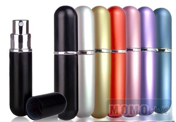 ☆MOMO小屋☆精緻 香水 分裝瓶 攜帶 空瓶 6ML 粉/金/ 銀/ 藍 /紅 /紫/黑【七色選一】