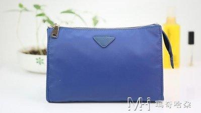 日和生活館 防水尼龍多功能便攜化妝包收納包化妝袋手拿包韓國可愛小號S686