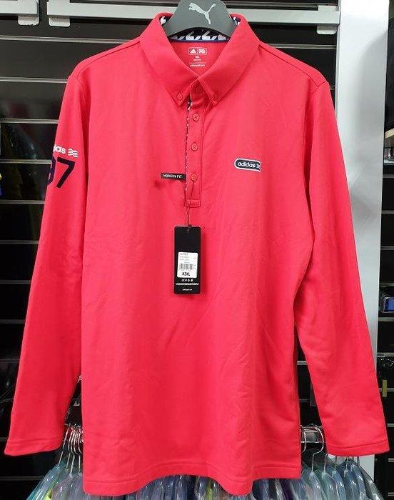 (易達高爾夫) 全新原廠ADIDAS Z95472 紅色 #2XL 男刷毛長袖上衣