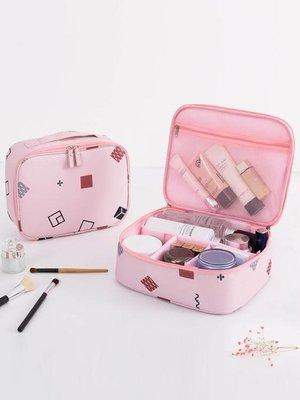 多功能化妝品包箱小號便攜韓國簡約大容量隨身收納袋包盒可愛少女